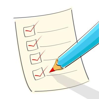 evaluate checklist