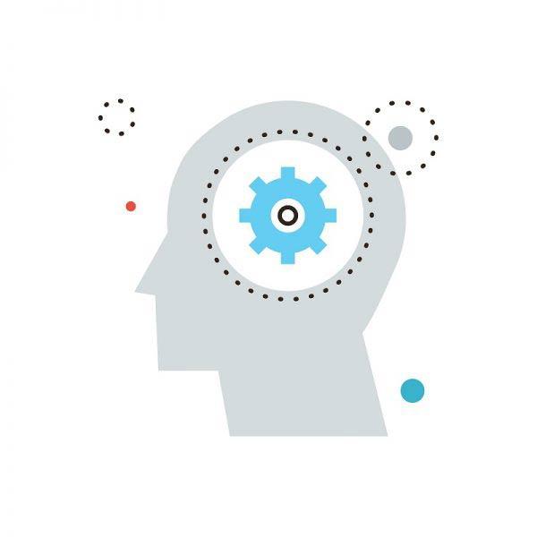 Cartoon of brain processing