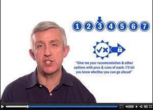 Screenshot of management video course
