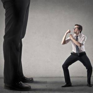 against the boss