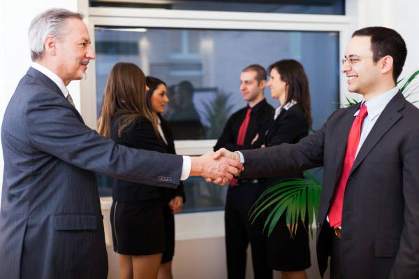 Businesspeople handshake