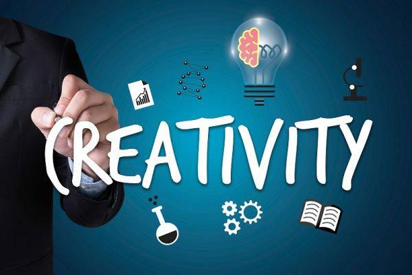 Creativity design with business man