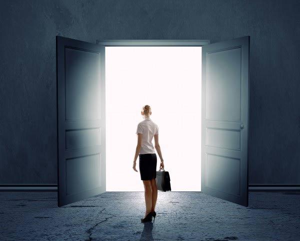Light from door