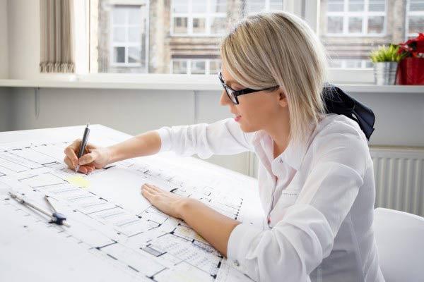 Woman write plan
