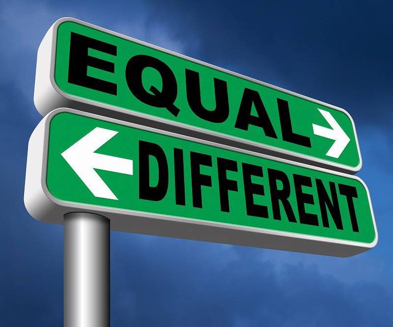 Equal and Different signs