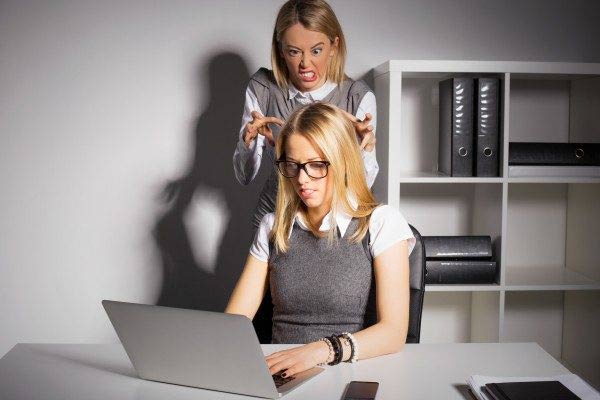 Female boss about to kill employer