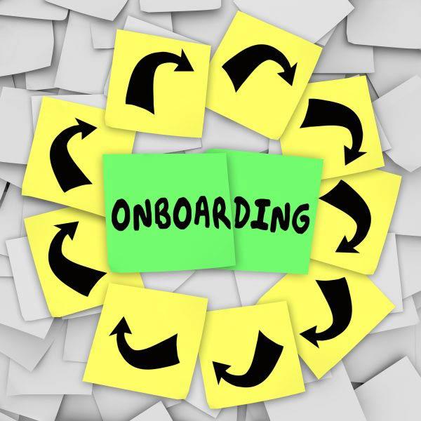 Onboarding word written
