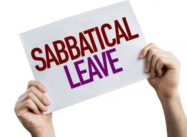 Sabbatical Leave placard