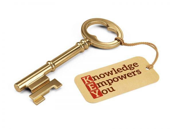 Golden key with Knowledge Empower