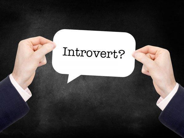 Introvert written on a speech