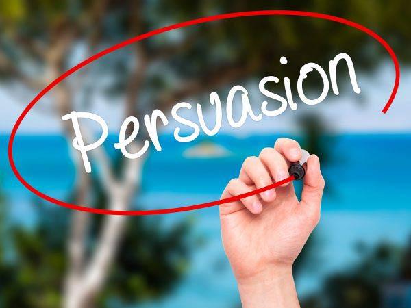 Man Hand Writing Persuasion
