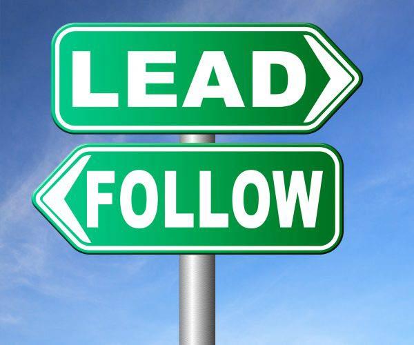 follow or lead following