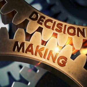 Decision making gears concept