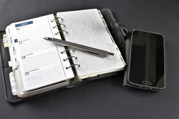 Staying organised with a planner