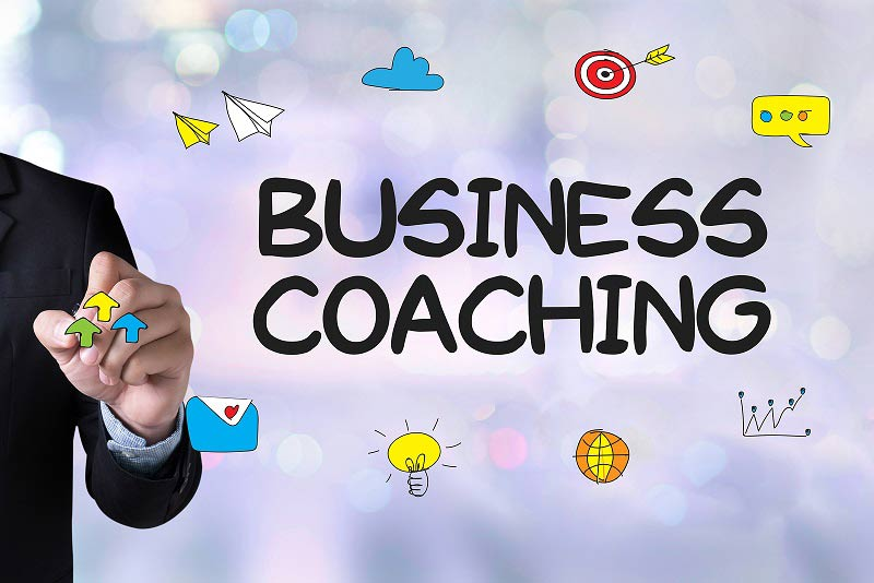 Business coaching with icons