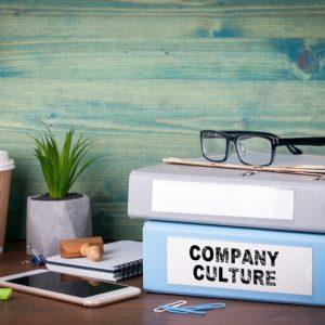 Company Culture folder on a desk