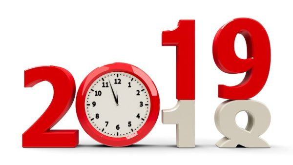 Clock with year change