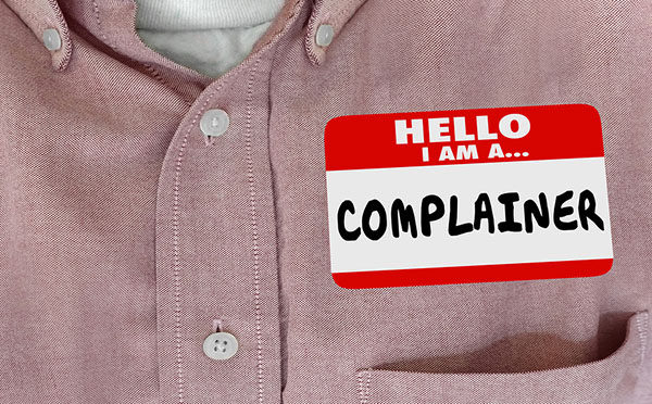 Complainer Dissatisfied Customer Hello Name Tag Words 3d Illustr