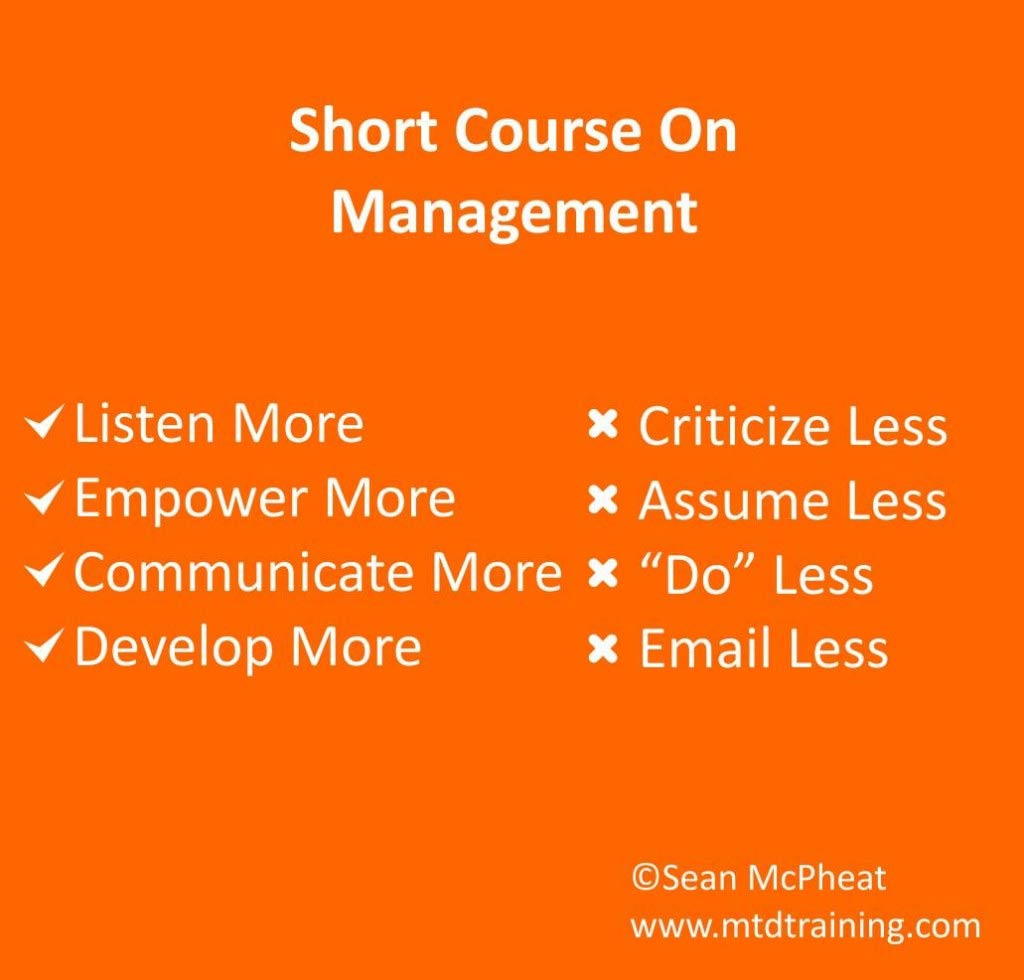 short course management